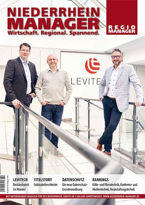 """""""Beständigkeit im Wandel"""", Niederrhein Manager, Titelporträt – 2. Ausgabe 2018"""